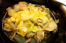 春キャベツと新玉ねぎと鶏モモで「煮物」