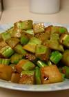 ブロッコリーの茎・ピリ辛炒め