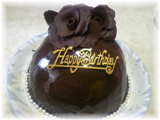 チョコドームケーキ♪(チョコムース入り)