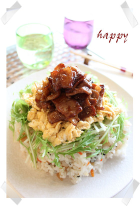 ✿豚バラとトロトロ卵のチラシ寿司✿
