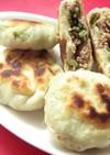 台湾家庭料理☆野沢菜&豚挽肉のお焼☆