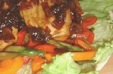 すごくおいしい!フライパンひとつで^^かじきの和風オニ照りとたっぷり野菜ソテー