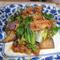 なす レタス エノキ茸の甘味噌炒め