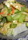 アスパラガスの昆布バナナ酢カレー味サラダ
