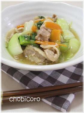 豚バラと青梗菜のとろみ塩ダレ炒め
