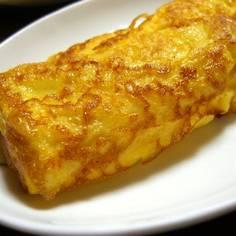 玉子豆腐で簡単、だし巻きたまご焼き