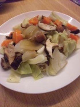 ルクエでヘルシー野菜蒸し♪野菜炒め風