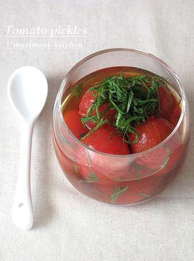 和っ!梅風味♥トマトのピクルス