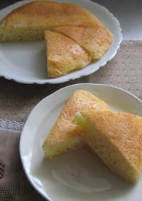ホットケーキの素でチーズ味なパンケーキ