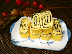 韓国海苔で!卵焼き〜磯の香り〜