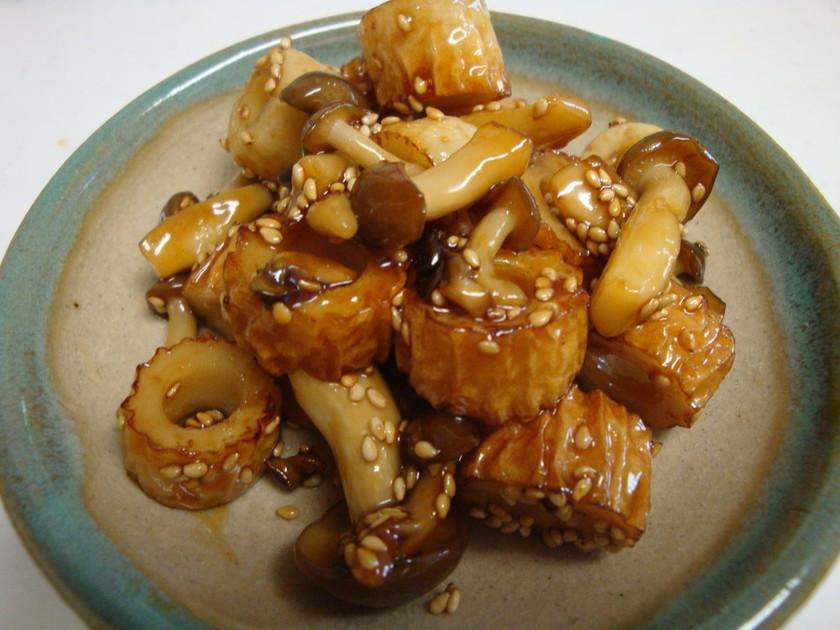 お弁当に✿しめじとちくわの照り焼き