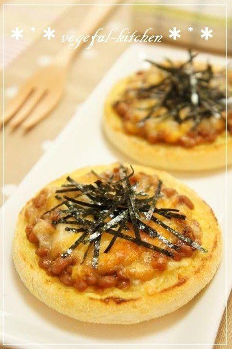 納豆&チーズの朝食イングリッシュマフィン