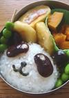 簡単キャラ弁✿黒豆deパンダおにぎり
