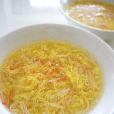 簡単✿カニカマとフワフワ卵の中華風スープ