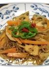 糸コンニャクと根菜のキンピラ