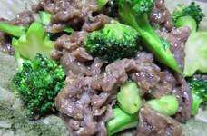 簡単♪牛肉とブロッコリーのオイスター炒め
