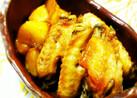 ジャガイモと鶏手羽の甘煮