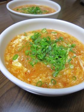 ダシダで簡単!キムチと玉子のトロミスープ