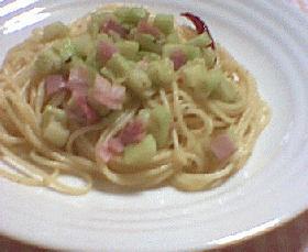 ナスとベーコンのスパゲティ