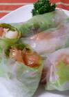 オイチリソースde白身魚とトマトの生春巻
