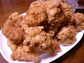 スタミナ源の焼き肉のタレで鶏もも竜田揚げ
