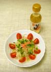 蟹酢でサラダ