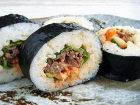 焼肉&キムチの太巻き(韓国風)