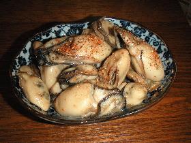 牡蛎(かき)のピリ辛煮