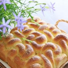 メープル風味のお花パン