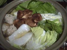 肉団子の鍋物