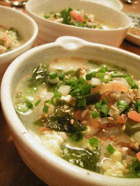 韓国スープかけご飯☆鶏クッパ