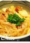 豚肉とキャべツの中華風丼