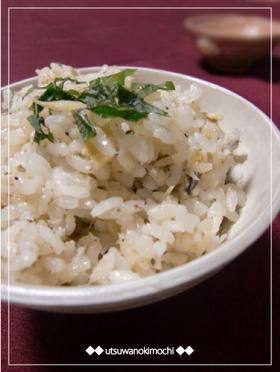 薄味シンプルな☆鮎の炊き込みご飯
