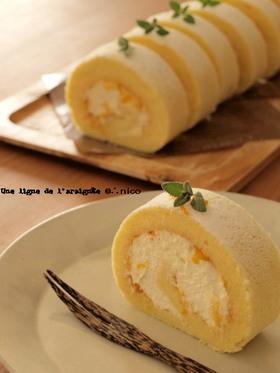 甘夏とチーズクリームのロール。