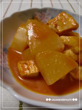 大根と鶏肉の野菜ジュースde炒め煮