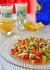 トルコの家庭料理☆夏のバジルのサラダ