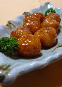 ✿もちもち海老団子の甘酢あん✿