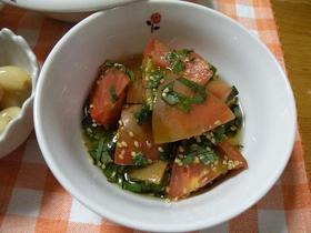 青いトマトの甘酢漬け