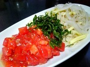 トマト冷製パスタ風の写真
