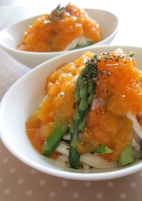 チキンとアスパラの野菜ジュレサラダ