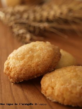 卵白だけで、ココナッツ*クッキー。