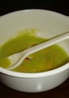 初期★離乳食「そら豆のスープ」