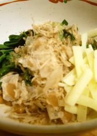 簡単で栄養満点☆にらチーズ納豆