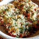 トマトのパセリチーズパン粉焼き