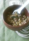 ご飯のお供☆セロリの葉とひき肉のそぼろ