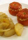 イタリア家庭料理☆トマトのご飯詰め