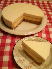 レア&ベイクド★二層のチーズケーキの写真