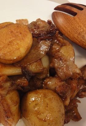 こっくり新じゃがと豚肉の甜麺醤煮