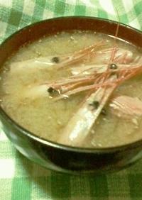 甘エビ(*^^*)のお味噌汁