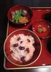 お食い初め~炊飯器の甘納豆お赤飯~